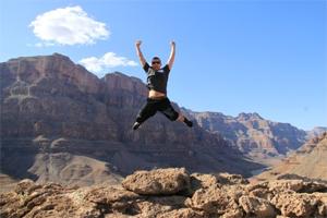 Leap Of Faith - Simon in the Grand Canyon